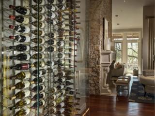 Contemporary Glass Wine Wall Cellar