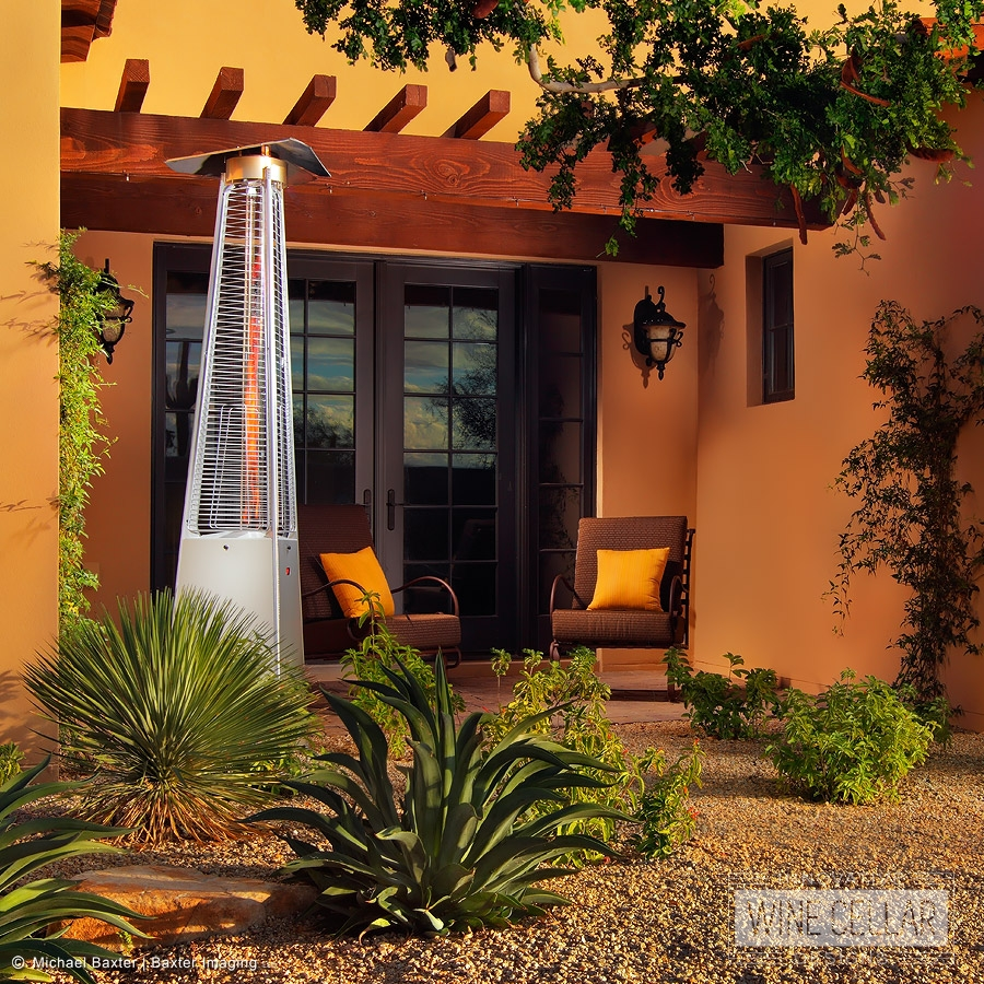 Ferrara Flame Outdoor Heater is perfect for those chilly AZ desert nights.