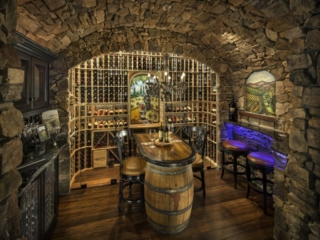Custom Wood Racking for Wine Cave by Innovative Wine Cellar Designs