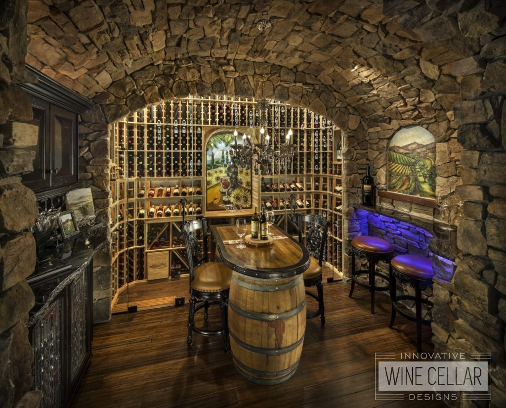 Rustic wine cellar and tasting room