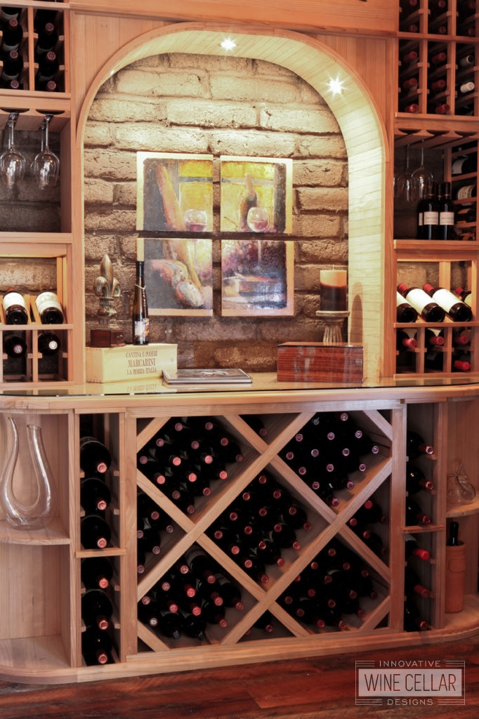 Custom Wood Racking for Wine Cellar by Innovative Wine Cellar Designs