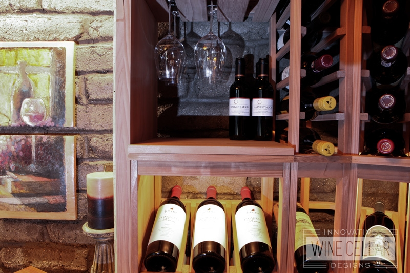 Custom Redwood Wine Racks by Innovative Wine Cellar Designs