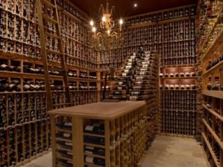 Custom Floor to Ceiling Wood Wine Racks by Innovative Wine Cellar Designs