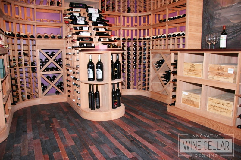 Custom Wood Wine Racks and Wine Room Flooring by Innovative Wine Cellar Designs