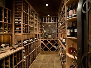 Custom Wood Wine Racks Designed for Narrow Spaces by Innovative Wine Cellar Designs
