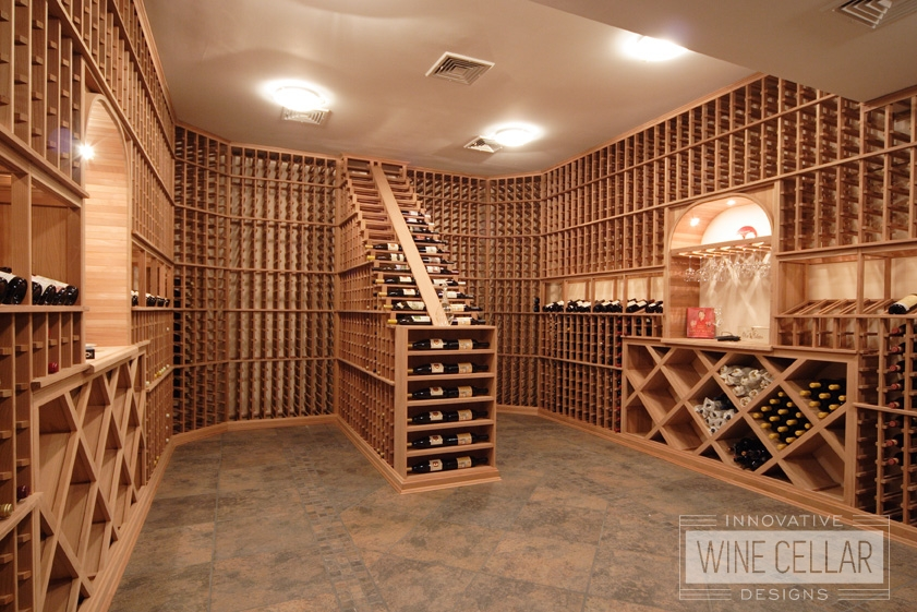 Innovative Wine Cellar Designs Custom Wood Racking Project for Wine Storage Room