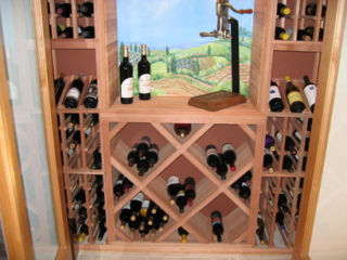 Wood Wine Racks with Antique Bottle Opener