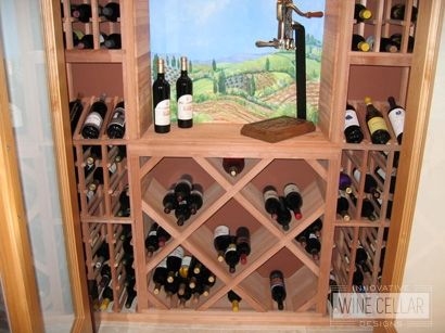 Wood Wine Racks with Antique Bottle Opener