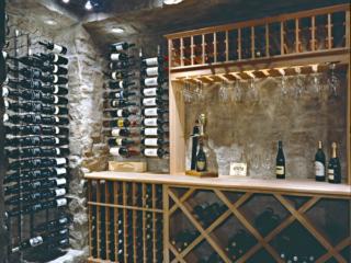 Custom Wood Wine Racking in Wine Cave by Innovative Wine Cellar Designs