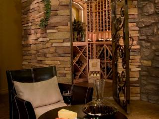 Wood Wine Racks in Wine Area