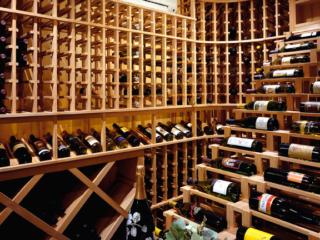 Custom Wood Wine Racks in Temperature Controlled Wine Cellar