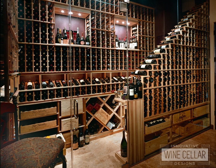 Custom Wood Wine Racks Designed for Smaller Area