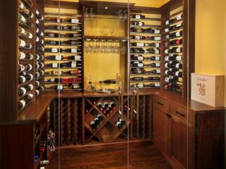 Transitional Style Custom Wine Cellar