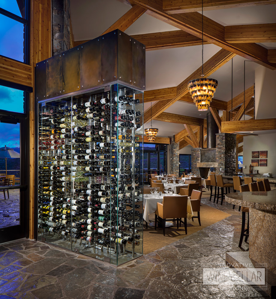 Custom Glass Standing Wine Wall Design for Clubhouses & Country Clubs