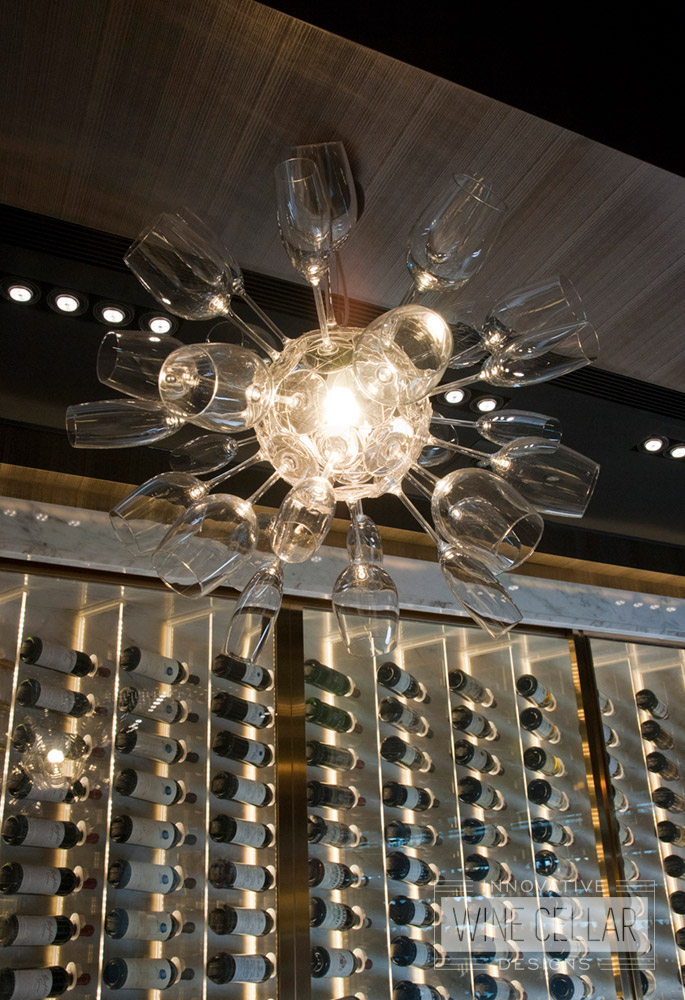 Wine Glass & Champagne Flute Chandelier