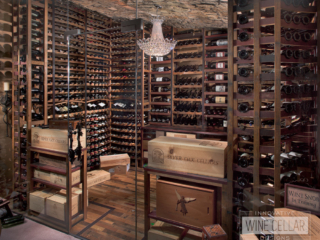 Reclaimed wine barrel cellar, custom design & install by Innovative Wine Cellar Designs.