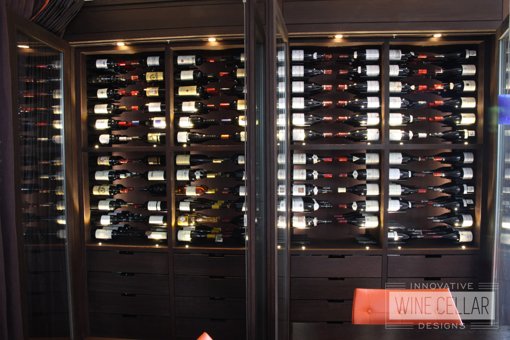 Transitional Style Wine Storage