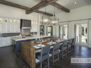 Rustic contemporary kitchen with farmhouse feel.