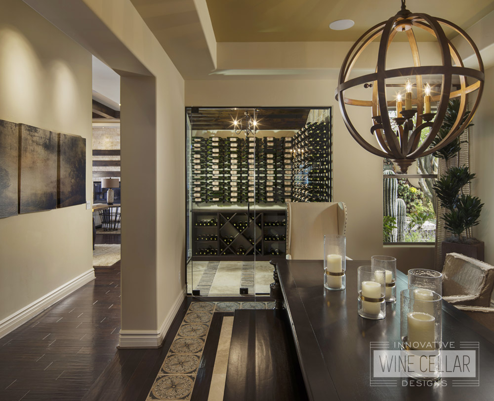 Transitional Style Wine Room to Match Decor