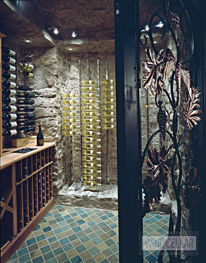 Transitional Style Custom Wine Cave
