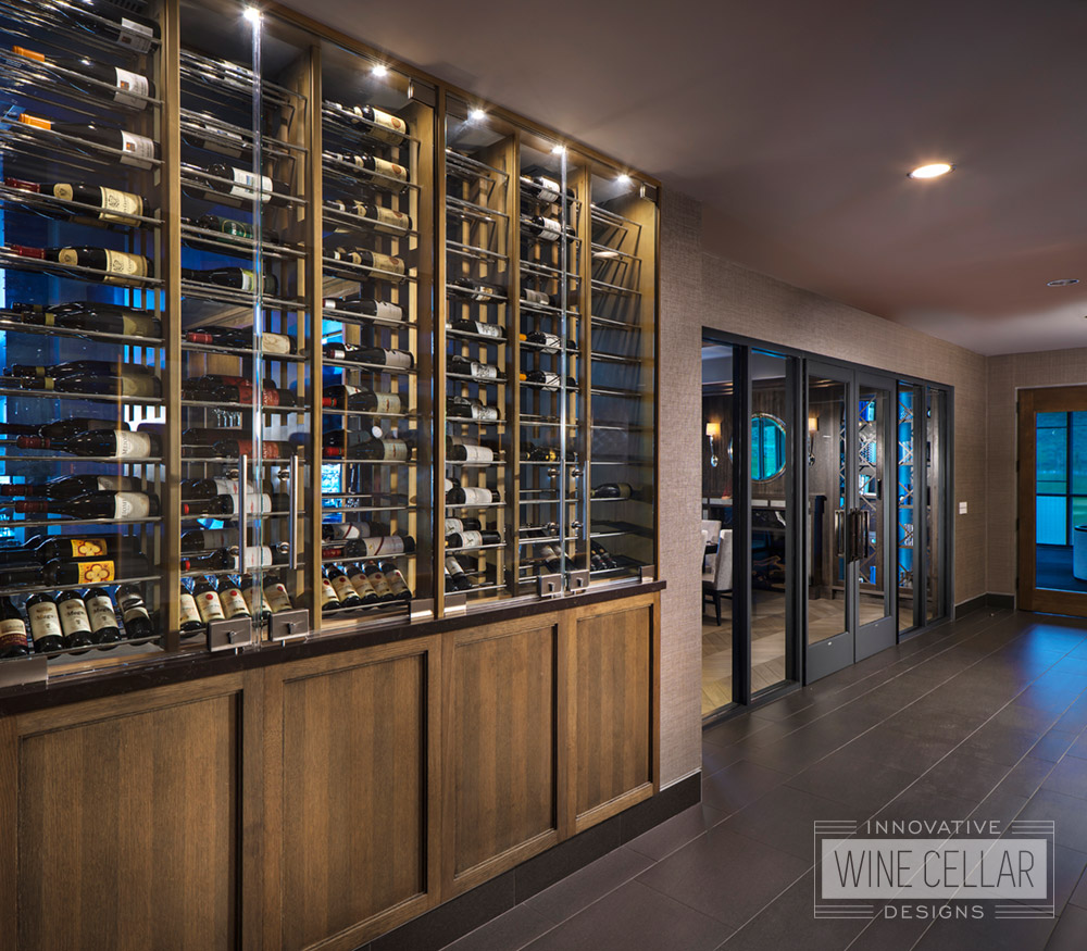 Custom Glass Wine Walls for The Peak at Nicklaus Clubhouse