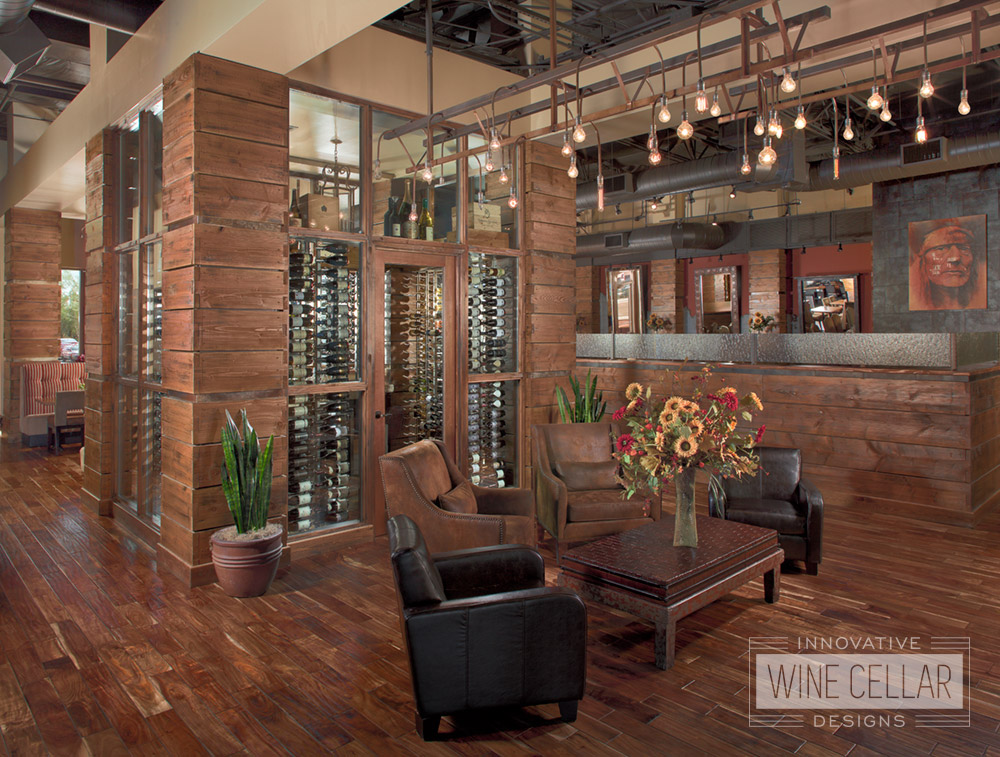 Custom Wine Cellar and Display for Hotel and Casino