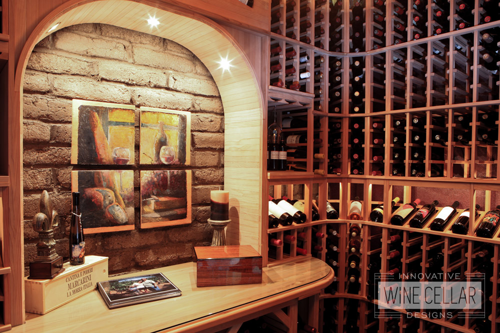 Custom Wood Wine Racks for Storage and Display by Innovative Wine Cellar Designs