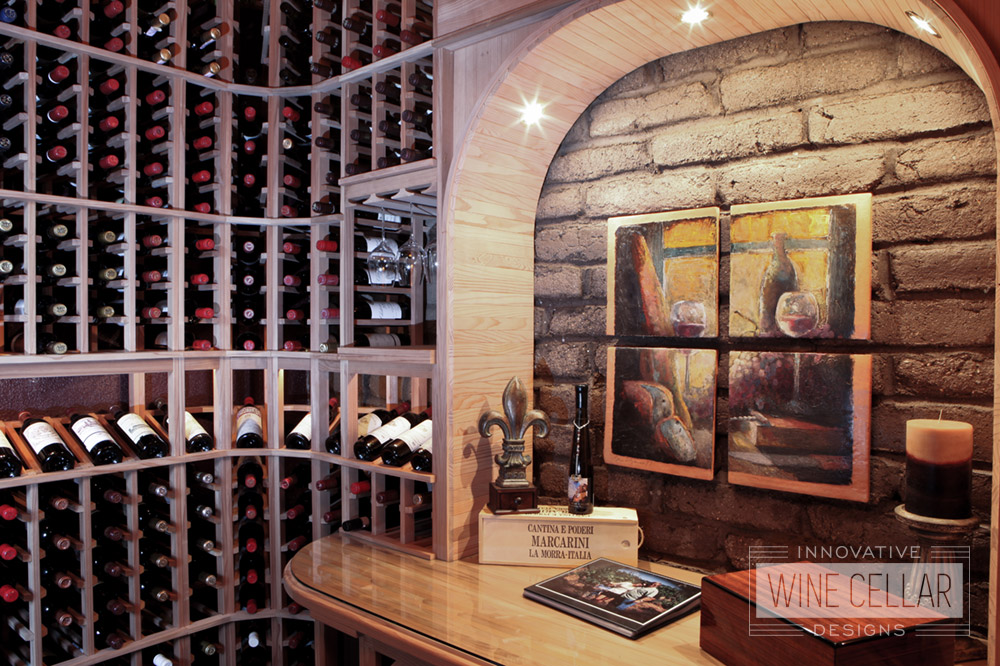 Custom Wood Wine Racking Designed by Innovative Wine Cellar Designs