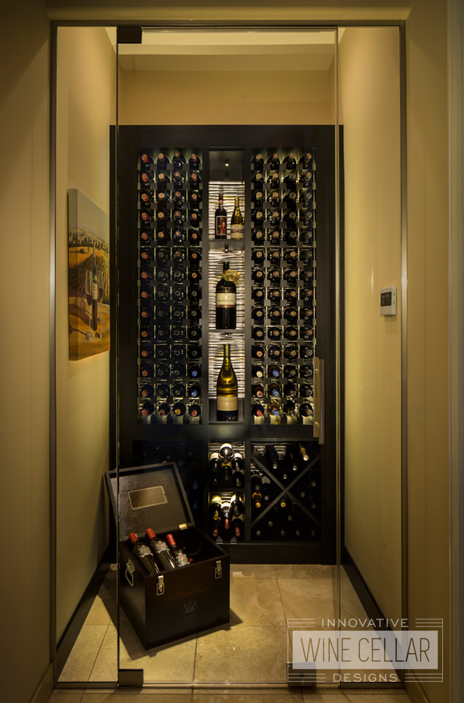 Transitional Wine Storage in Small Space