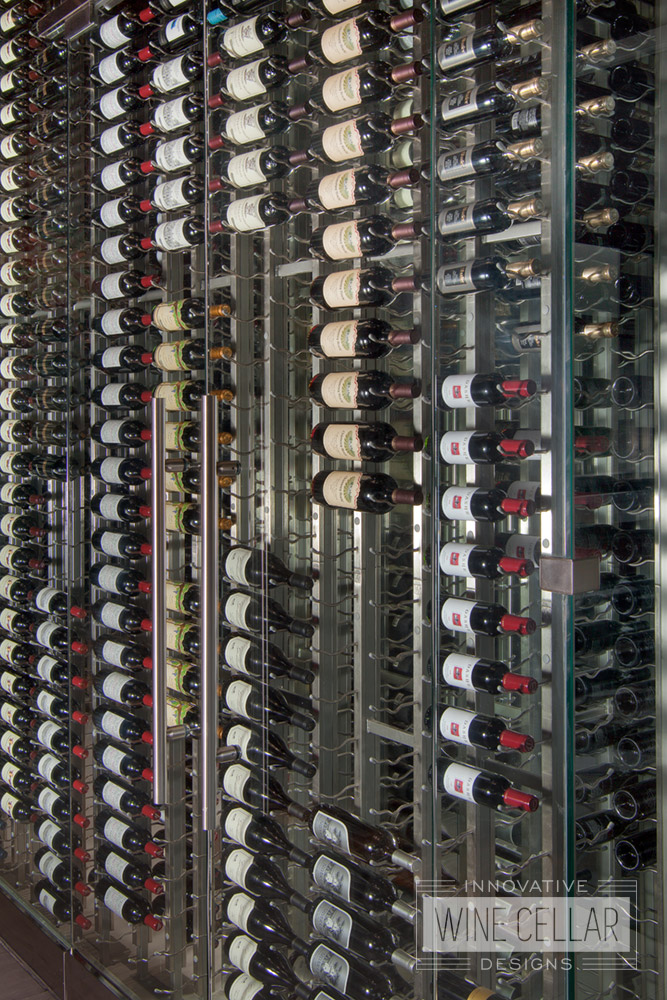 Custom Wine Wall Cellar and Display for Restaurants