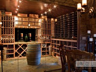 Traditional wine cellar, custom design & install by Innovative Wine Cellar Designs.