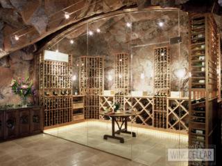 Traditional wine cave, custom design & install by Innovative Wine Cellar Designs.