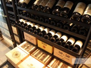 Transitional Sliding Wine Racks