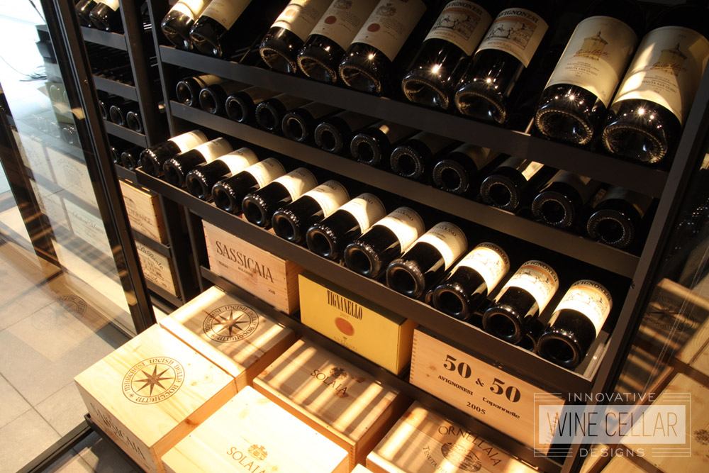 Transitional Sliding Wine Racks