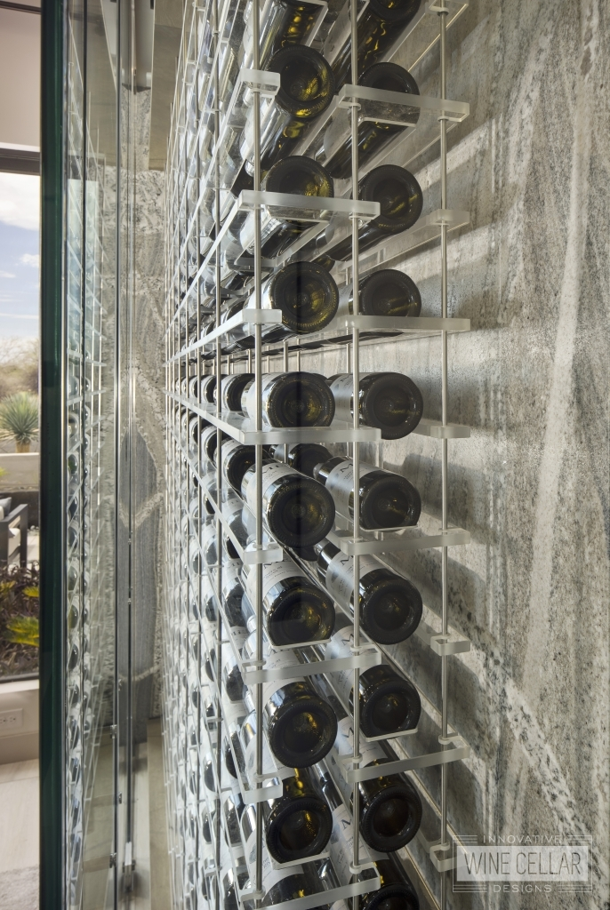 modern acrylic wine wall racks