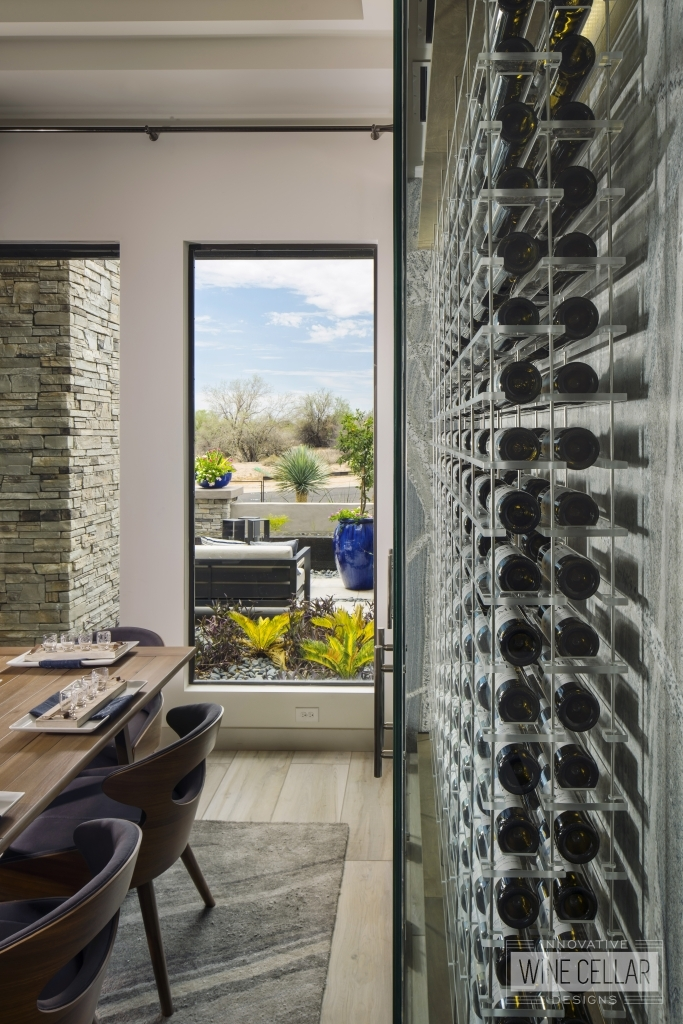 modern wine wall acrylic wine racks