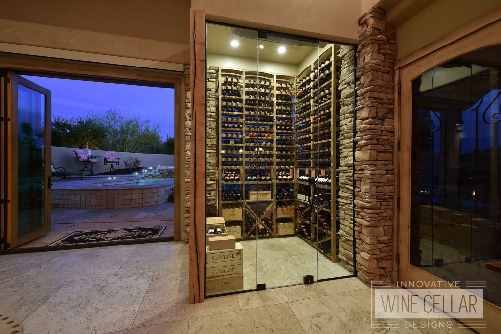 Wine Cellar in Artesano at Troon Village home
