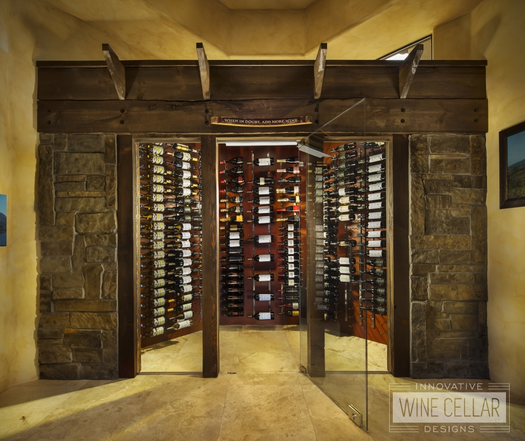 walk-in wine storage showroom model