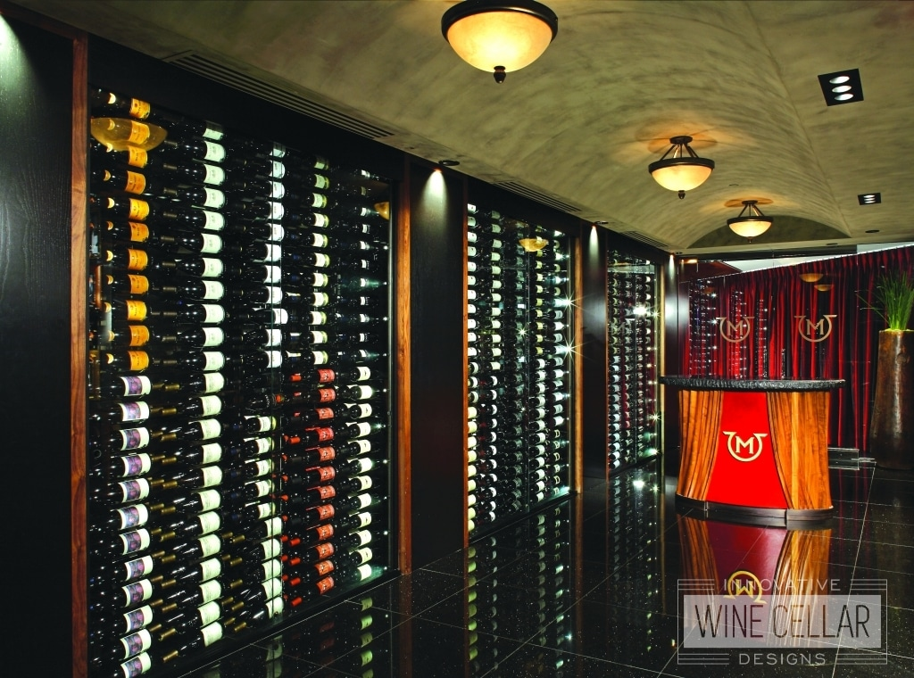 Stunning wine wall cellar at Mastro's