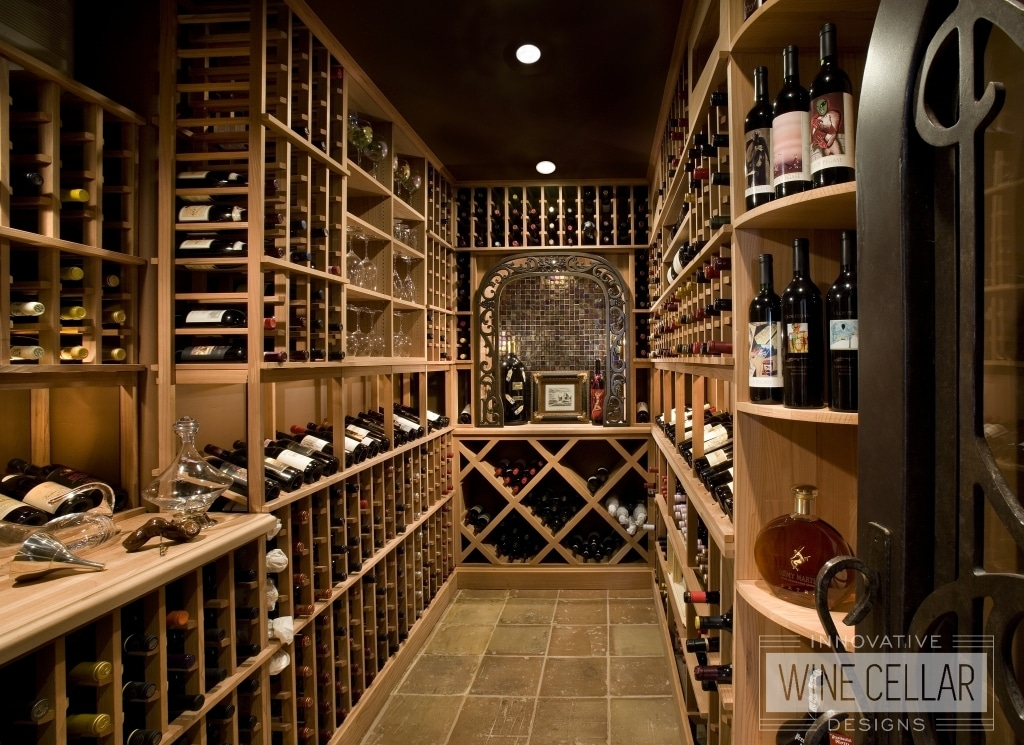 Traditional Walk-In Wine Cellar